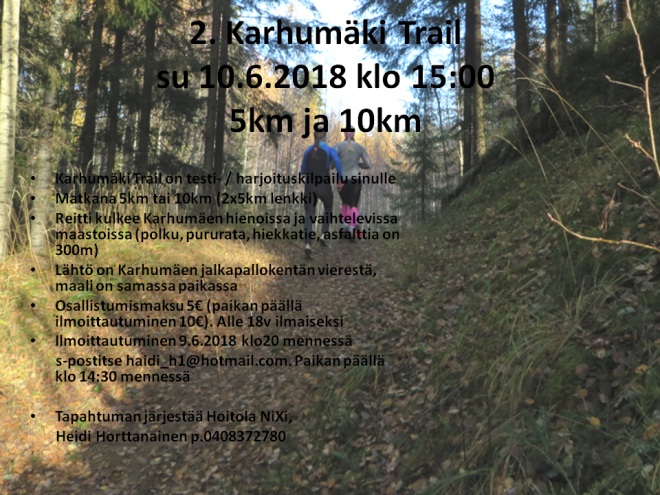 Karhumäki trail - 2. harjoituskisa
