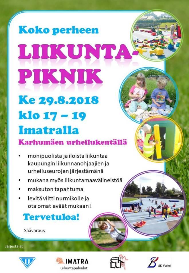 liikuntapiknik Imatra29.8.2018